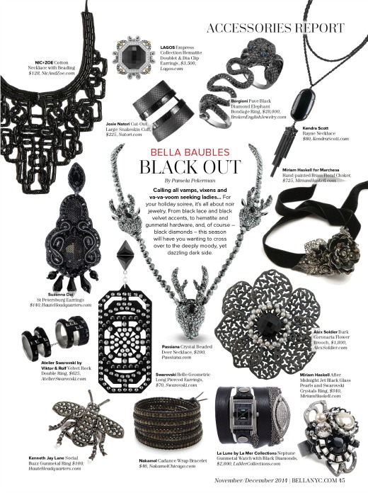 Dark Jewelry Trend, Holiday 2014