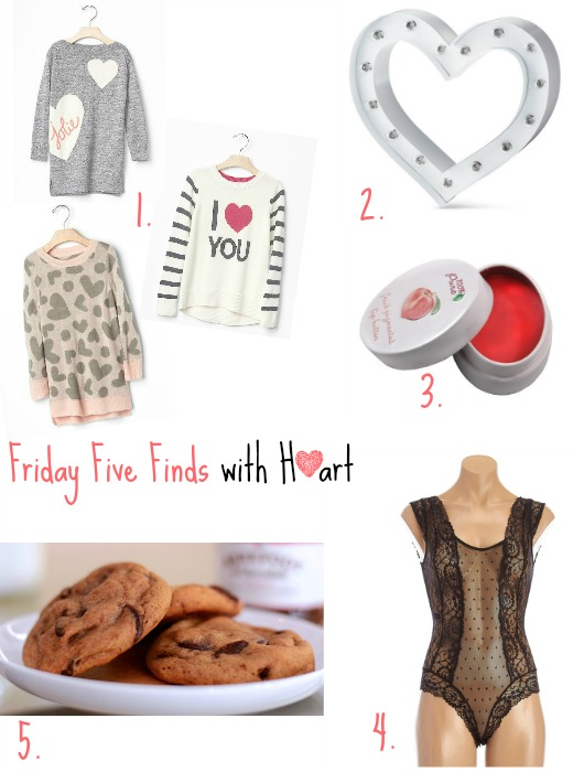 Friday Five Finds with Heart