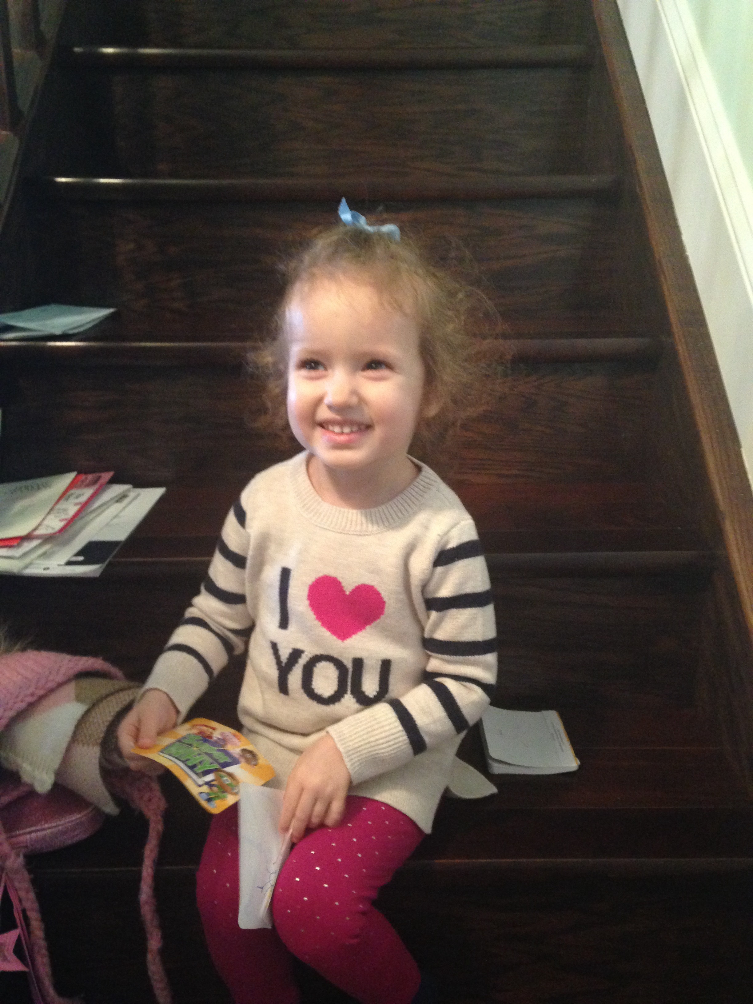 Ilana Rose in GAP I <3 You tunic