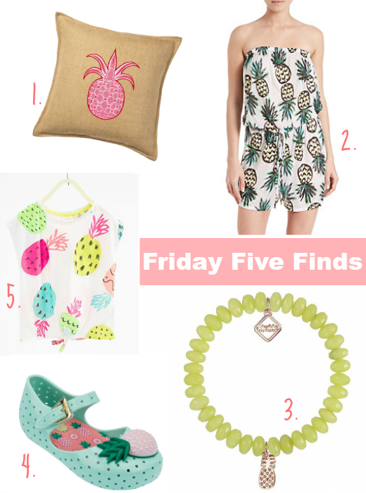Pineapple Friday Five Finds