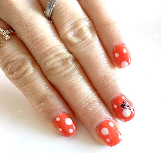 Minnie Mouse Manicure by Pamela Pekerman