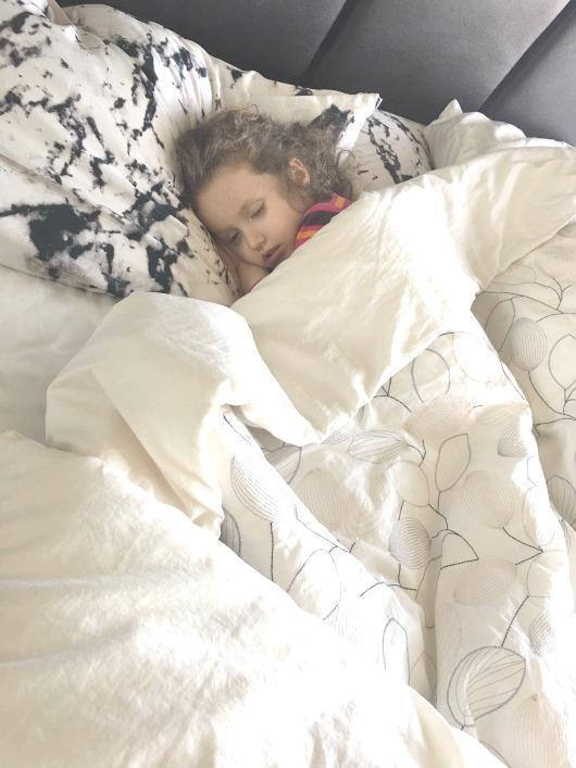 Sleeping Sick Toddler Pamela Pekerman