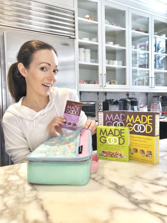 MadeGood Foods school safe snacks pamela pekerman