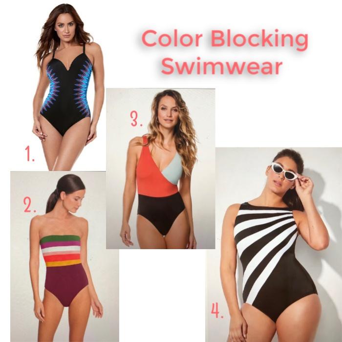023e9d04d5782 Longitude Colorblock Hugh Neck One Piece Swimsuit $62 // 4. Solid & Striped  Ballerina Surplice Over the Shoulder One Piece Swimsuit $158